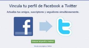configurar facebook con twitter