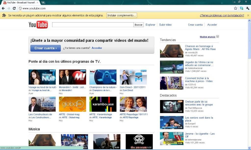 Youtube Antes