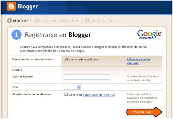como crear un blog con blogger 3