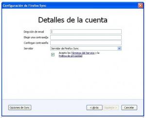 sincronizacion Firefox 3