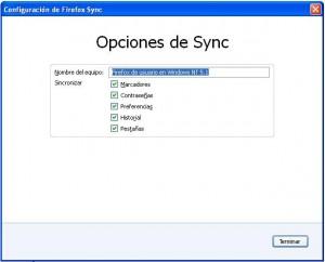 sincronizacion Firefox 4
