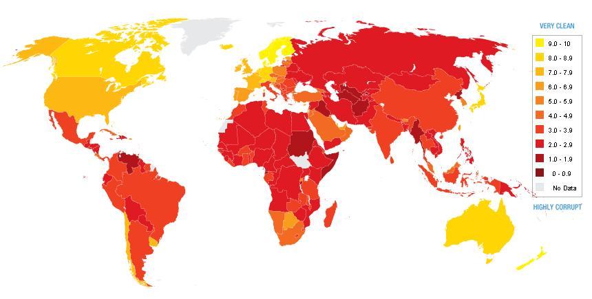 paises mas corruptos del mundo 2