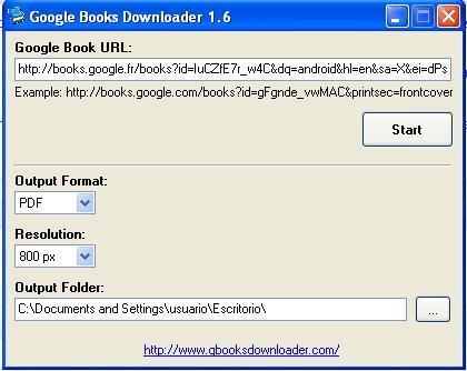 google ebooks descarga