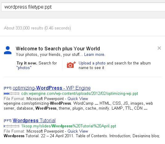 busqueda google con tipo de documentos