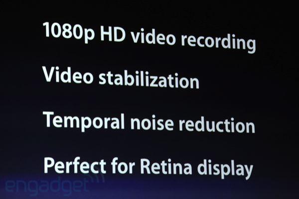 nuevas especificaciones de video ipad 3