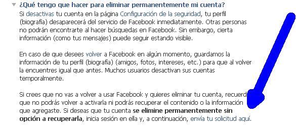 borrar facebook busqueda delete 2