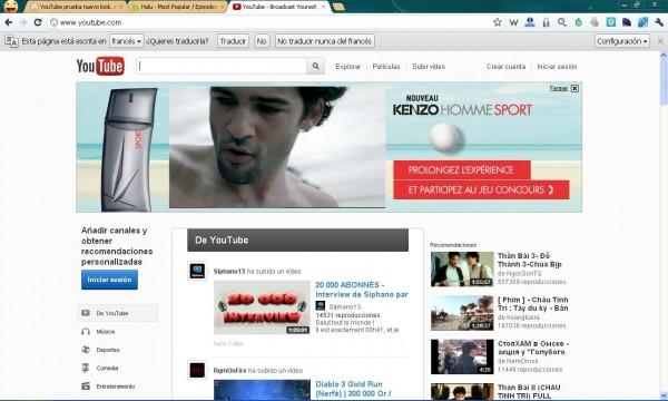 youtube nuevo 2012 2