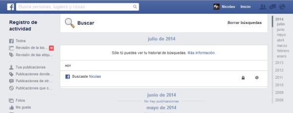 facebook historial busqueda 4