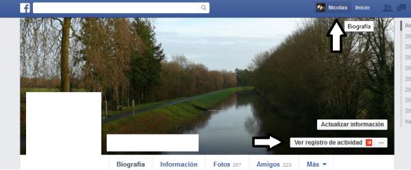 facebook historial busqueda