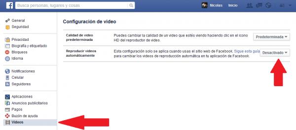 videos desactivados